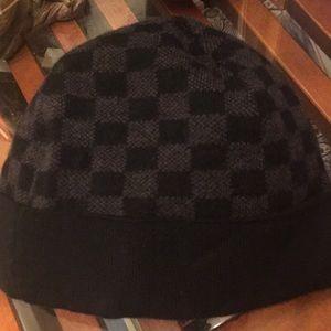 Louis Vuitton Accessories - Louis Vuitton Petit Damier 100% Wool Beenie Hat